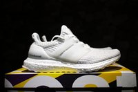 Wholesale Mens Golf Shoes Size 11 - 2017 Wholesale Cheap Ultra Boost 3.0 Boost ALL White Mens Athletic Shoes Mens Sports Running Shoes Size 5-11