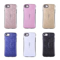 Wholesale I Face Covers - Fashion Hybrid Silicone phone case for iphone 7 i face Hard Rubber hock proof Grid Square cover case