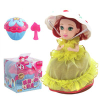 Wholesale Cupcakes Princesses - Cupcake Surprise Scented Princess Doll Reversible Cake Transform to Mini Princess Doll Barbie 12 Roles with 6 Flavors Magic Toys for Girls