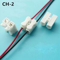 tornillos de conector al por mayor-Cable de empuje rápido de 2 pines Cable de conector de resorte sin soldadura no tornillo para tubo de tira de LED Cableado Lámpara de techo 10A 380V