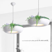lmparas colgantes de moda moderna plantas de macetas blancas lmparas de luces lmparas de diseo simple para decorar interior oed