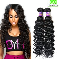 Wholesale deep wavy remy hair - Peruvian Deep Wave Hair 8A Peruvian Virgin Hair Weft Remy Human Hair Wet And Wavy Peruvian Hair Deep Wave Peruvian Weaves 3Bundle Deals