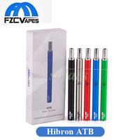 Wholesale Green Bottoms - Authentic Hibron ATB Starter Kit 400mah E Cigarette Vape Kit for Thick Oil Top Airflow Bottom Charging 100% Original