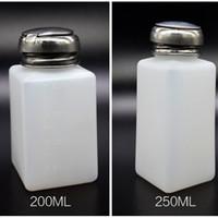 Wholesale Nail Polish Pump Bottle - Lockable Empty Pump Dispenser Nail Polish Remover Bottle Liquid Alcohol Remover Disinfectant Bottle High Quality