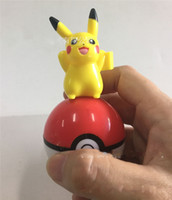 Wholesale Poke mon Ball With Pikachu Action Figure Pokeball Crystal Pet Charmander Stickers Plastic Game Ball Kid Gift Toy