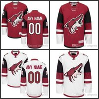 2406d1231 Custom Arizona Coyotes Mens Red Home White Away Hockey Jersey 23 Oliver  Ekman-Larsson 16 Max Domi 19 Shane Doan ...