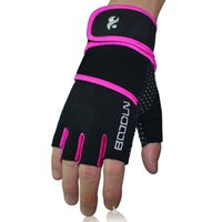 Wholesale Fingerless Safety Gloves - BOODUN Wrist Protection Lengthen Fitness Gloves Breathable weightlifting equipment Sports Safety Male And Female Half-Finger Gloves
