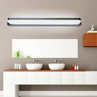 Luces Led Simple Baño Baratos-Nuevo espejo de baño simple LED LED lámpara de pared de baño de acero inoxidable lamparas de pared Maquillaje impermeable lámparas anti-niebla