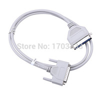 Wholesale Db25 Pin Cable - 50pcs   lots 150cm parallel printer dot matrix cable 25 pin to 36 pin 1284 DB25 to CN36 parallel printing cable DHL Fedex Free
