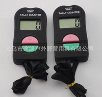 Wholesale Tally Clicker Digital - 240pcs lot Digital Hand Tally Counter Electronic Manual Clicker ADD SUBTRACT MODEL For Golf Sports Muslim Free shipping