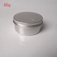 Wholesale Wholesale Glass Powder Container - Free Shipping - 50 x 60g aluminum jar, metal jar for cream powder gel use, 2 oz cosmetic bottles, 60ml aluminum container