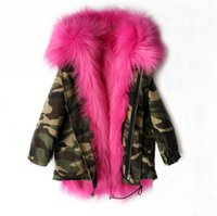 Wholesale Baby Girls Winter Jacket - Girls Winter Coat Faux Fox Fur Liner Detachable Jackets Toddlers Children's Outerwear Baby Girl Thicken Warm Coat Parkas For Boy
