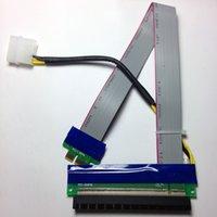 Wholesale Pci Express X16 Extender - Riser PCI-E pcie PCI-Express PCI Express 1x 16x pci-e pcie x1 x16 Extension Flex Cable Extender Converter Riser Card Adapter