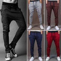 Wholesale Slacks Trousers Sweatpants - Casual Mens Jogger Dance Baggy Sportwear Harem Pants Slacks Trousers Sweatpants