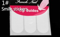 Wholesale Wholesale French Pattern - 5 Packs lot French Manicure Cartoon Nail Art Tips Creative Nail Tape Stickers Masking tape Do pattern Nail Tools Smile Line