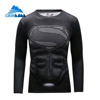 Wholesale Camp Tshirt - Wholesale-Cikrilan New Men Super Hero Outdoor Sport Trekking Hiking Fitness Tshirt Homme Quick Dry Long Sleeve Bicycle Sportswear T-shirt