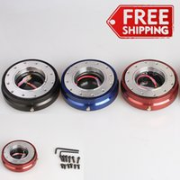 Wholesale HB Universal Thin Steering Wheel Quick Release Hub Adapter Snap Off Boss Kit Color Red Blue Black