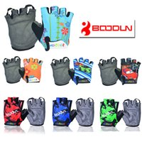 Wholesale Riding Gloves Children - BOODUN CHILDREN KIDS PADDED CYCLING BICYCLE BIKE CYCLING BMX GLOVES RACING RIDING M  L