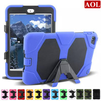Wholesale Military Duty Hard Case - For iPad Mini 1 2 3 4 Shock Proof Military Heavy Duty Hard Case Cover 12 Colors 1:1 shockproof defender case
