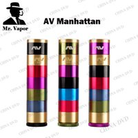 AV Manhattan campainha vaporizador Mods Avid Lyfe Mecânica 18650 Battery Vape Mod Floating Copper Contacto Pin Fit Eleaf istick Melo GS Air Tanque