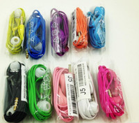 Wholesale Galaxy New Brand Phone - 100pcs lot Brand New 3.5mm Colored J5 Earphone headset Headphone with Remote and MIC for Samsung Galaxy S4 i9500