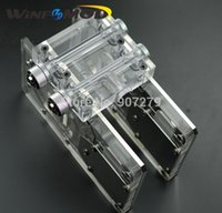Commercio all'ingrosso- WinfMOD Bykski GPU Water Cooling Block SLI / Crossfire Modulo di montaggio ----- L6 2-Way