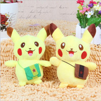 Wholesale Stuffed Soft Toys - 18cm Pikachu Plush dolls cartoon Poke plush toys poke Stuffed animals toys soft Christmas toys