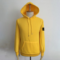 Wholesale Hoodie Jacket Xxl Size - 6 Colors Long Sleeve Stone Jackets With Hat For Women Men Top Quality Winter Wear Jackets High Quality Sports Hoodies jackets Size S-3XL