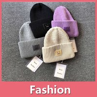 Wholesale oversized sun hats online - High Quality Fashion Girl Women Men Hat Trendy Warm Oversized Chunky Soft Oversized Cable Knit Slouchy Beanie Winter Cap DHL Free