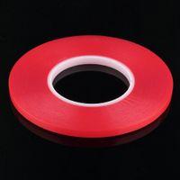 Wholesale role tape - Wholesale-1pcs Heat Resistant Double-sided Transparent Clear Adhesive Tape 50M 8mm Multi-role