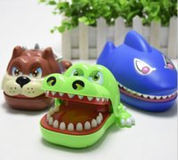 Wholesale Strange new Creative entire toy cartoon shark bite the hand crocodile cur Tricky Toys