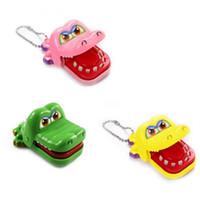 dentista de brinquedo venda por atacado-Novas Crianças Crianças Presentes Brinquedo Dedo Jogo Grande Crocodilo Boca Dentista Mordida Truque Brinquedo De Plástico Engraçado
