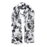 Wholesale Winter Skin Ladies - NewFloral Scarf Fashion Women Simple Light Rendering Autumn Winter Warm Ladies Scarves Close to Skin Butterfly Flowers Ring SF884