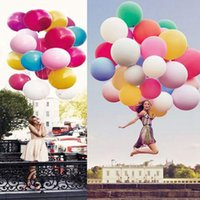 Wholesale Blow Up Christmas - 36 Inch Colorful Giant Big Ballon Blow Up Latex Birthday Wedding Ballons Birthday Balls Party Decoration 100pcs OOA3128