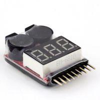 тестер напряжения аккумулятора оптовых-для 1-8S Lipo/Li-ion/LiMn/Li-Fe напряжение батареи 2 в 1 тестер низкого напряжения зуммер сигнализации BB звук уведомления для модели самолета БПЛА