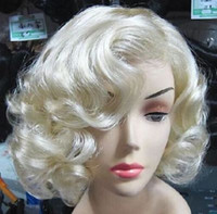 Wholesale Curly Short Wig Blond - Wholesale free shipping >>>>Marilyn Monroe Fashion Curly Wig Cosplay Hair Full Wigs Hot Style Short Blond