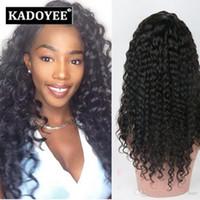 Wholesale Hair Wigs Uk - Jerry Curls Human Hair Lace front Wigs Virgin Brazilian hair extension Kinky Curly Lace Frontal Wigs Human Hair Free Shipping US UK