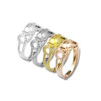 8mm runder ring großhandel-Beadsnice 925 Sterling Silber diy Schmuck Ring Basis billig Zubehör Großhandel einstellbar US Ringgröße 7 bis 9 passen 8mm Runde ID 30666