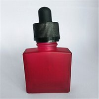 Wholesale Bottles For Medicine - Free Sample Wholesale 30ml Frosted Red Bottle E liquid Glass Liquid Medicine Bottle for Cosmetic Bottle Childproof cap & Rubber Top Sale