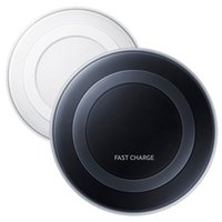 Wholesale Qi Wireless Charging Pad Black - Generation 2nd Samsung Note5 Wireless Charging FAST CHARGER Pad Qi Black White for Galaxy Note 5 S7 Edge 6