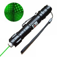 Wholesale Green Laser Retail - 2in1 009 10miles 10 Miles 532nm Green Laser Pointer Strong Pen high power powerful 8000M pointer w Pen Clip w  Retail Box Battery Charger