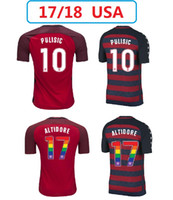 AAA + USA Soccer Jerseys 17 18 American National Team Gold Cup 2017 États-Unis DEMPSEY DONOVAN BRADLEY PULISIC Chemises de football