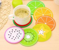Mode Chaud Fruits forme sous-verres silicone rond sous-verres isolation thermique pad antidérapant tasse tapis