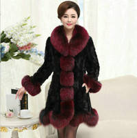 Wholesale Mink Fur Coat Xxl - New Fashion Haining Long Section Mink Coat Female Models Mink Fur Coat Large Size Jacket Women Coat S M L XL XXL 3XL 4XL 5XL 6XL