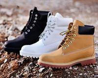 Wholesale Plus Size Platform Boots - 2016 Fashion Autumn Winter Leather Men Boots Black Casual White Shoes Travel Platform Cow Muscle Mens Work Boots Plus Size 39-45