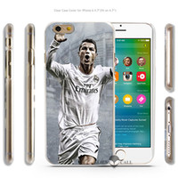 Wholesale Cristiano Ronaldo Iphone Cover - Wholesale-Cool Cristiano Ronaldo CR7 Love Football Hard Transparent Clear Case Cover Coque Shell for iPhone 4 4s 5 5s 5c 6 6 Plus