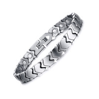 Wholesale Titanium Health Bracelet Women - 100% Pure Titanium magnets Energy Magnetic power Bracelet Energy power bracelets Energy Wrist Band for women men health function jewelry