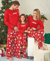 Wholesale Nighty Long - Christmas adult family matching clothing Xmas christmas snowman printed pajamas sleepwear autumn kids nightwear pyjamas bedgown nighty T0373