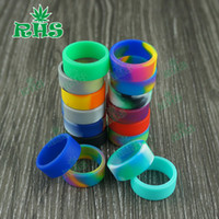 Wholesale Ecig Rings - Popular colorful design silicone vape band 22*7 mm vape rings ecig accessories for tank and mod
