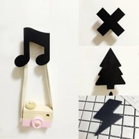 Wholesale Wholesale Wall Decor Cross - Wholesale- Creative wooden cloud coat hat hook Rack children room decoration tree note cross lightning wall hanger decor gift Hooks Cute35